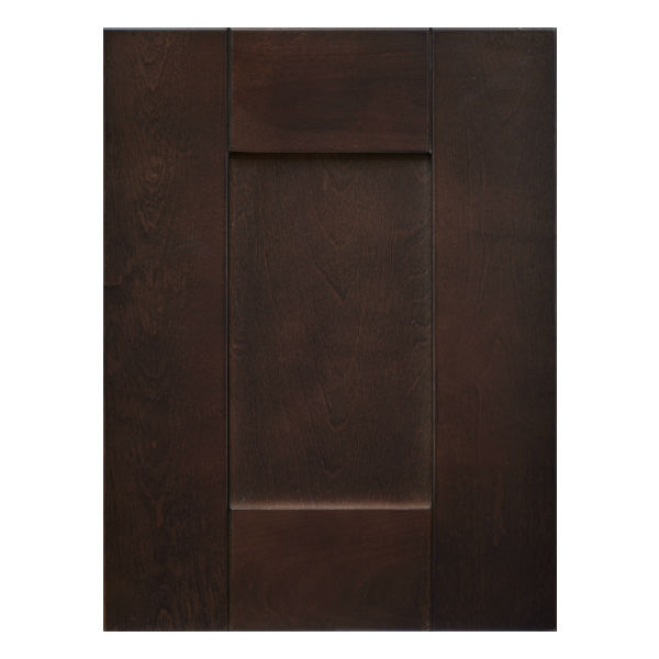 Chocolate Shaker Pantry Cabinets 2 4 Doors 4 Shelves Top Cabinets